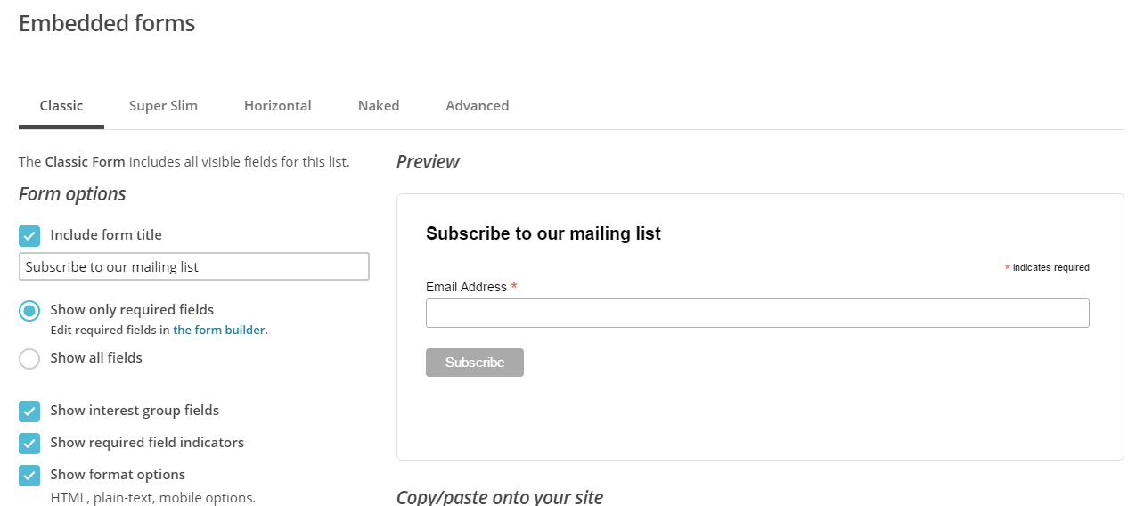How to Add MailChimp Signup Form to WordPress