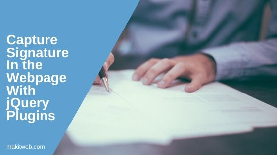 Capture Signature in the webpage with jQuery plugins