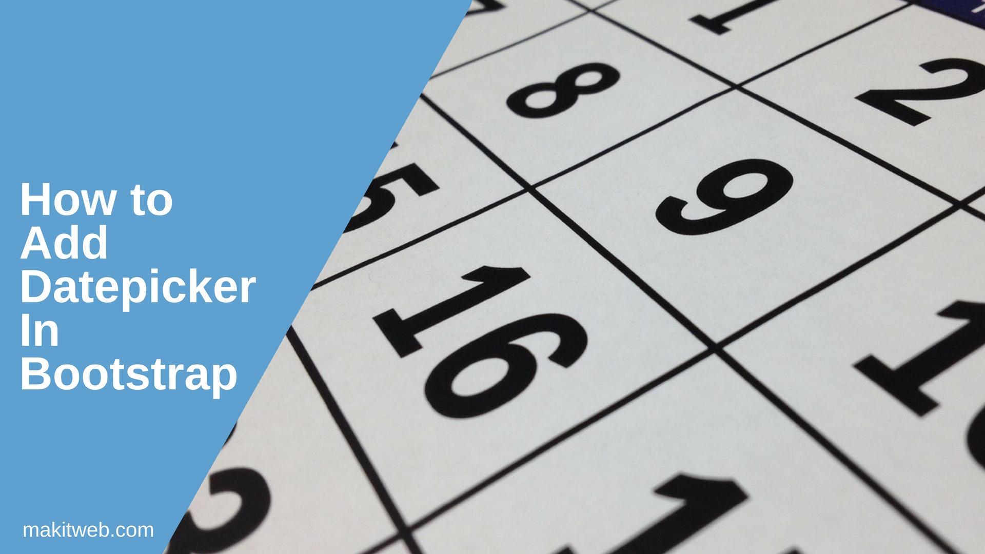 How to add datepicker in Bootstrap
