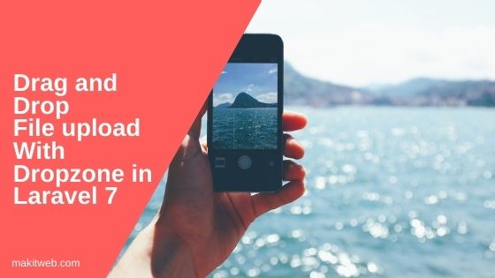 Drag and Drop file upload with Dropzone in Laravel 7